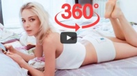 360° Наташа раздеваться в спальне / Natasha Getting Undressed Morning Bedroom
